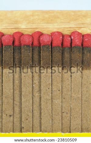 close up of a matchbox fire starter - stock photo