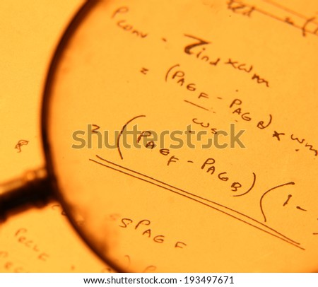 Close up of a mathematical background - stock photo