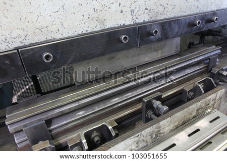 Close up of a Metal Banding Machine - stock photo