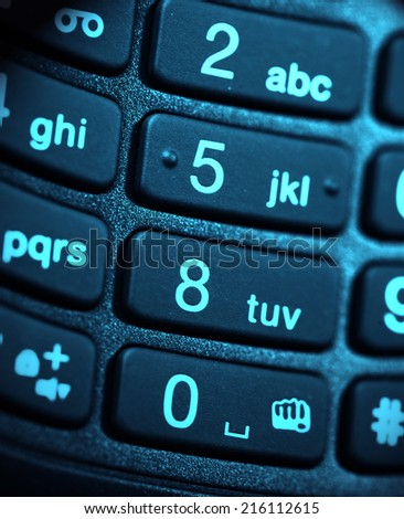 Close up of a mobile phone - stock photo