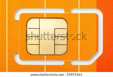 Close-up of a mobile phone sim card - stock photo