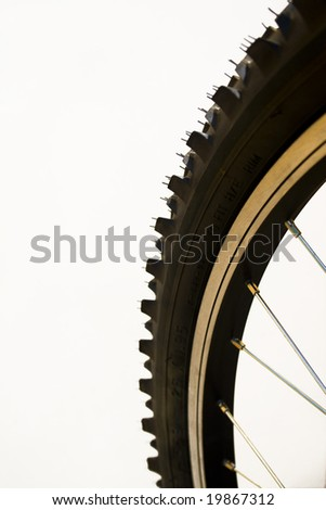 Close-up of a mountain bike tyre - stock photo