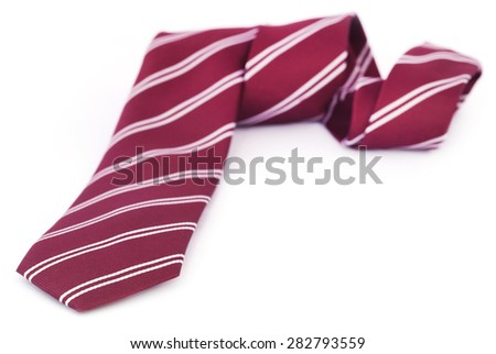 Close up of a necktie over white background - stock photo