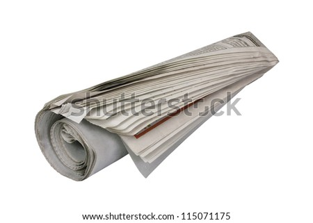 Close-up of a newspaper - stock photo