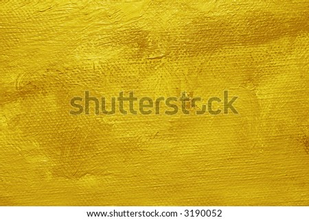 Close-up of a oil painted canvas - texture and brush strokes well visible - stock photo