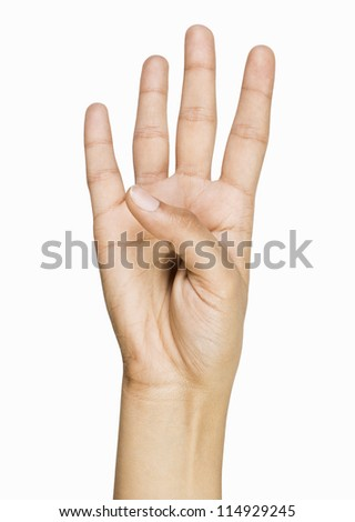 Close-up of a person's hand gesturing