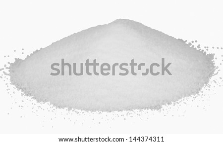 Close-up of a pile of fine sugar - stock photo