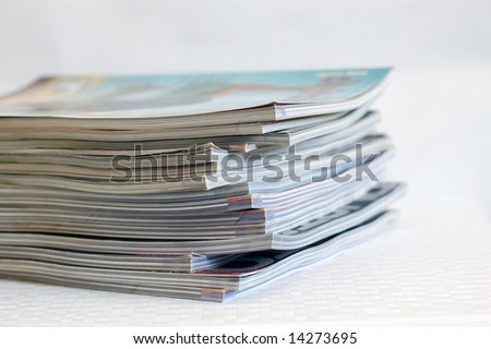 Close up of a pile of newspaper