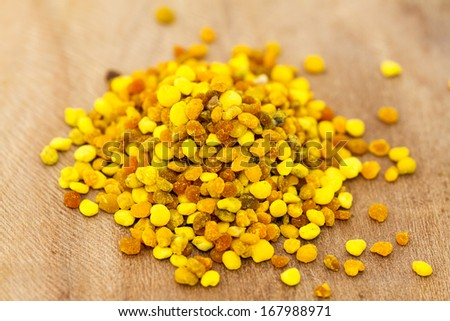 Close up of a pile of pollen  - stock photo