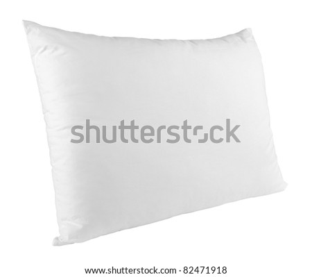 close up of  a pillow on white background with clipping path