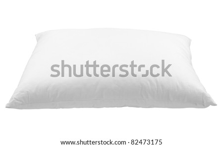 close up of  a pillow on white background with clipping path - stock photo