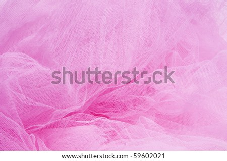 close up of a pink tulle fabric - stock photo