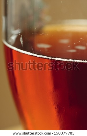 Close-up of a pint of real English ale - stock photo