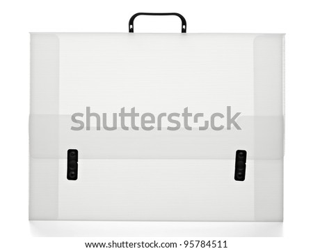 close up of  a plastic case on white background with clipping path - stock photo