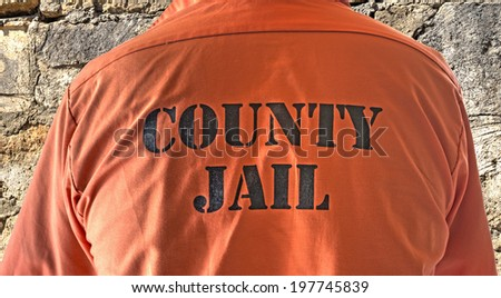 close up of a prisoner shirt  - stock photo