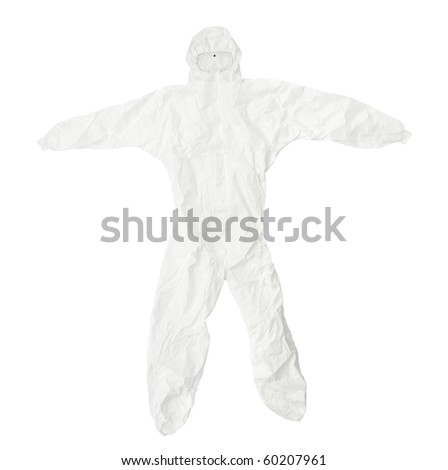 close up of  a protective clothing on white background  with clipping path