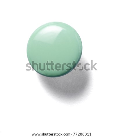 close up of a pushpin on white background with clipping path