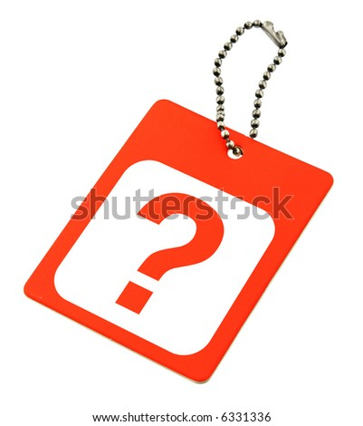 close-up of a question mark against white background - stock photo