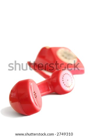 Close up of a red headphone - stock photo