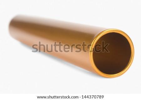 Close-up of a relay baton - stock photo