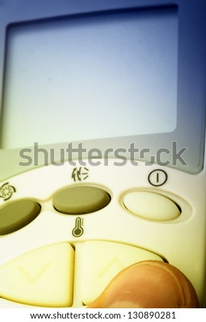 Close up of a Remote buttons. Good details.