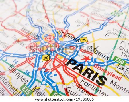 Paris Map Stock Images RoyaltyFree Images Vectors Shutterstock - Paris road map