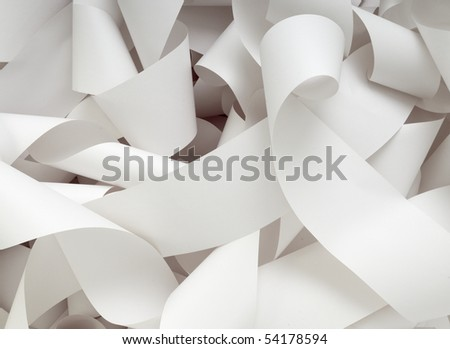 close up of a roll of accounting paper - stock photo
