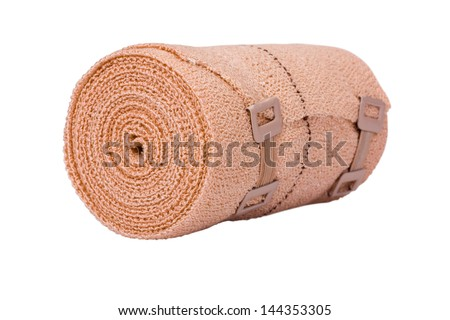Close-up of a rolled-up bandage - stock photo