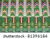 Close-up of a roof of a South Korean temple - travel and tourism. - stock photo