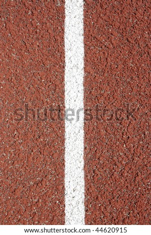 Close-up of a rubber track - outdoor shot