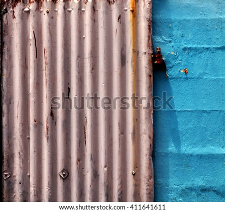 Close up of a Rusty Old Texture  - stock photo