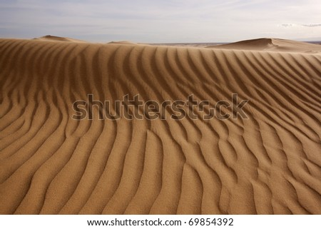 Close up of a sand dune (Imperial Dunes, California) - stock photo