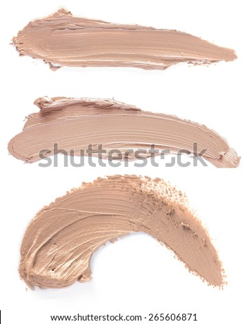 close up of a Scratch beige foundation - stock photo