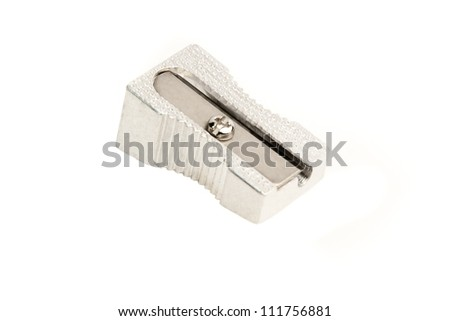 close up of a sharpener on white background - stock photo