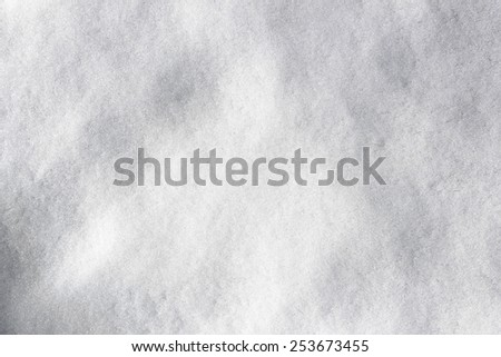 Close up of a snow covered ground. - stock photo
