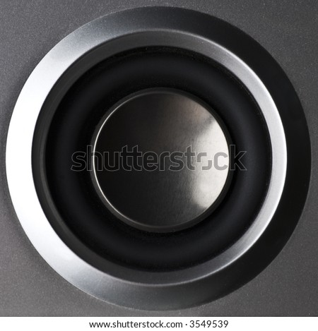 close up of a speaker - stock photo