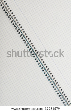 Close up of a spiral notepad