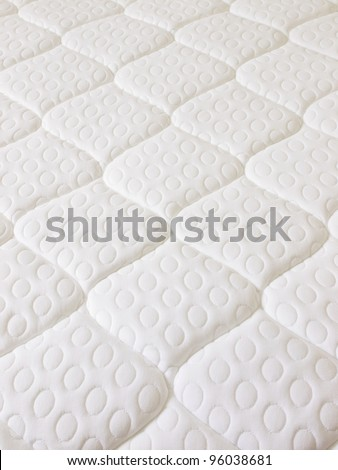 close up of a spring mattress - stock photo