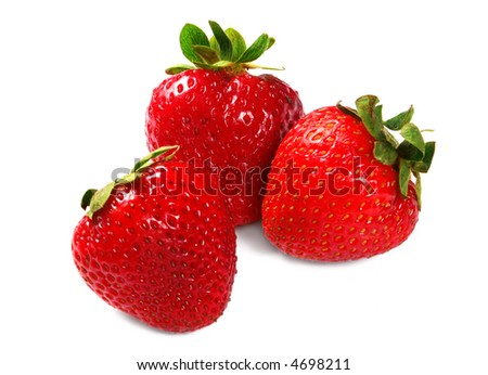Close up of a strawberries - stock photo