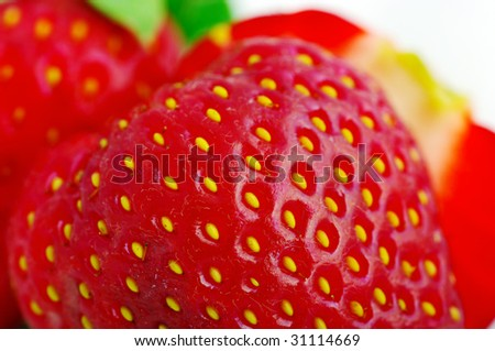 Close up of a strawberry. - stock photo