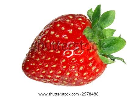 Close up of a strawberry. Macro - stock photo
