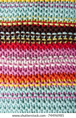 close up of a striped knitted texture as a background
