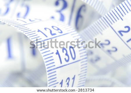 Close up of a tape measure - stock photo