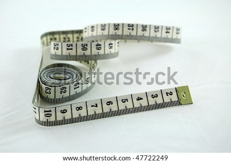 Close-up of a tape measure - stock photo