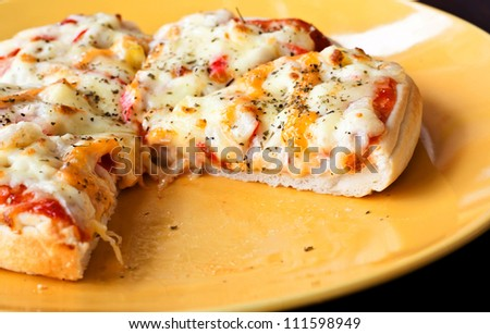 Close up of a tasty pizza