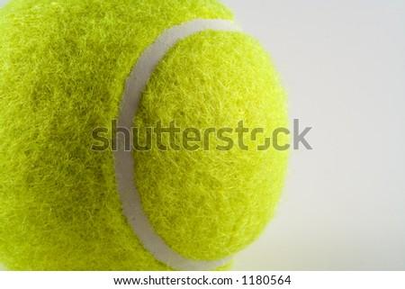 Close up of a tennis ball - stock photo
