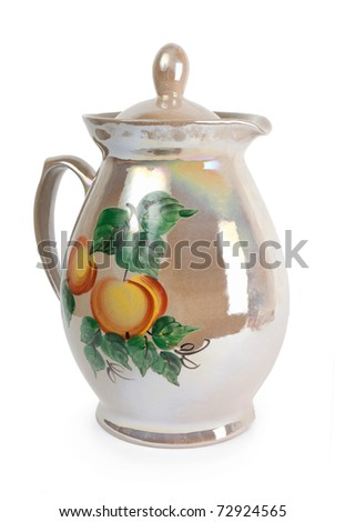 Close Up Of A Traditional Russian Tea Service - stock photo