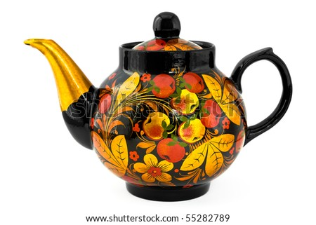 Close Up Of A Traditional Russian Teapot - stock photo