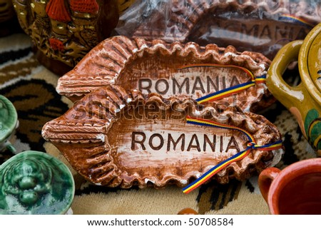 Close-up of a very nice Romanian traditional ceramic object