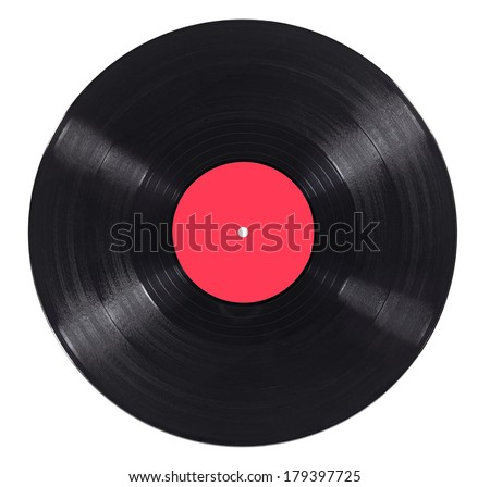 close up of a vinyl on white background - stock photo